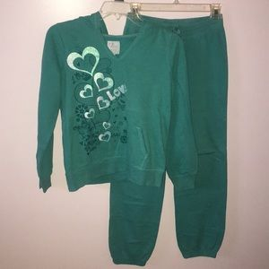 TEAL CORED SWEATER AND JOGGERS (MATCHING SET)